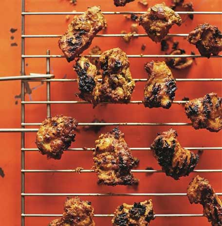 Thanks to Cyrus Todiwala for this delicious hot-pepper flavoured chicken tikka recipe. #FoodYouLove