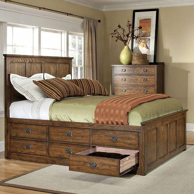 Bed Frame No Box Spring Required Bed Frames Queen Size Wooden