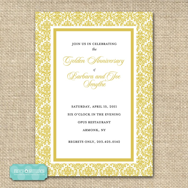 21 best Golden Wedding images on Pinterest | Invites, Embossing ...