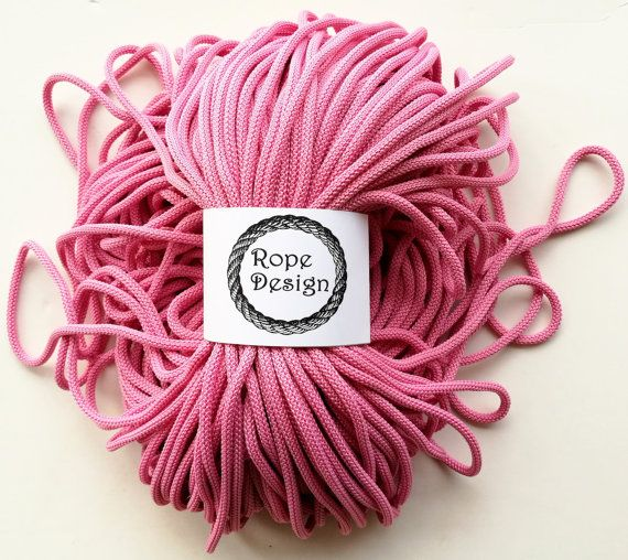 Macrame cord 6 mm cord Chunky polyester rope Textile soft cord Colored cotton rope Cord nylon Craft project Soft macrame cord