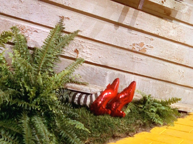 The Wicked Witch of the East is definitely responsible for my obsession with black and white striped stockings. Who can ever forget this iconic movie scene from the beloved Wizard of Oz?: Shoes, Houses, Wizardofoz, Ding Dong, Ruby Slippers, Dr. Oz, Movie, Wicked Witch, Wizards Of Oz
