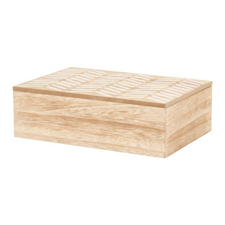 box chevron print wood 24cm