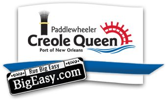 Creole Queen | New Orleans Paddlewheeler Mississippi River Cruises; Two hour experience with delicious New Orleans cuisine, live music and cocktails while cruising on the Mississippi River. $74/person.