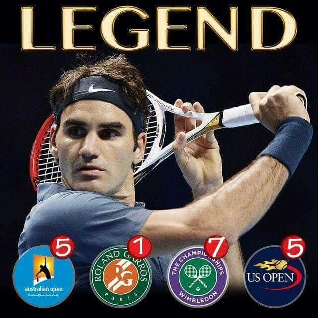Roger Federer and his 18 major titles...and hopefully another Wimbledon this year!!!