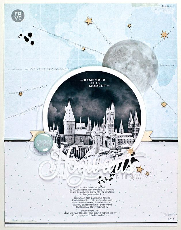 *hogwarts in the snow* by JanineLanger at @studio_calico