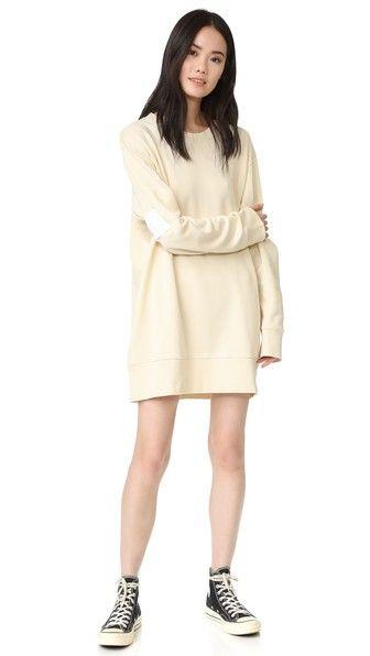 MM6 Простое платье-толстовка из ворсованной ткани