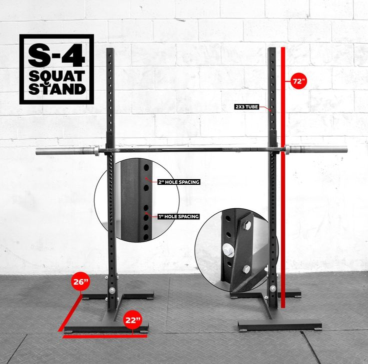 Rogue s 4 h base squat stand in your gym pinterest for Make a squat rack at home
