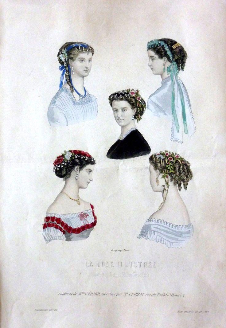 Fashion plate 1860s