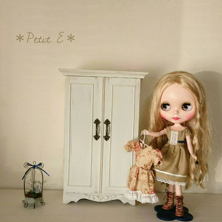 *Petit E*ブライスにも😌 #ブライス#ブライスアウトフィット#ハンドメイド家具#ミニチュア#ドールハウス