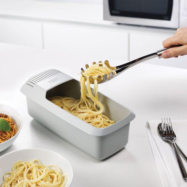 Perfect for pasta fans...the Joseph Joseph Microwave Pasta cooker.