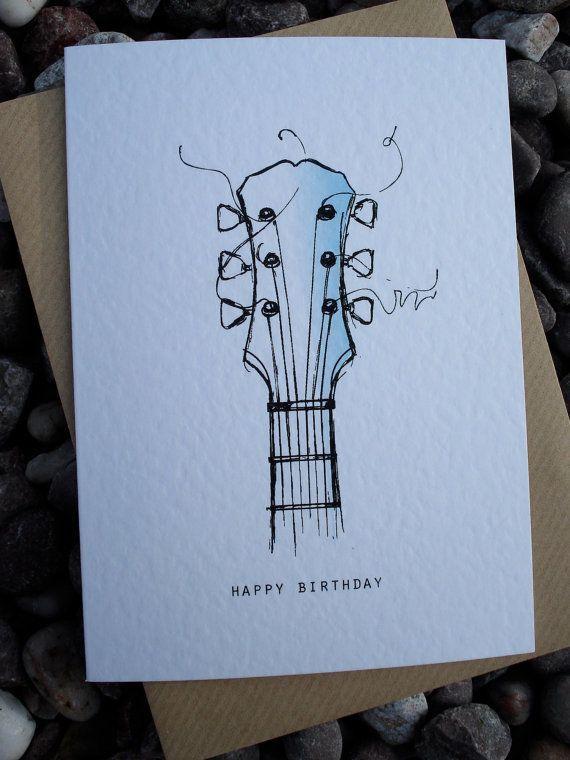 GUITAR Geburtstagskarte von IsleofGB auf Etsy, 2,5…