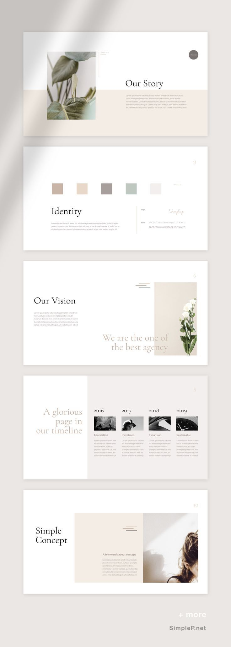 Neutral Powerpoint Template Powerpoint Vorlagen Webdesign Angebote Und Layout Design