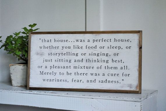 PERFECT HOUSE {1'X2'} JRR Tolkien Quote | distressed rustic wall decor | painted shabby chic wall plaque | urban farmhouse sign |