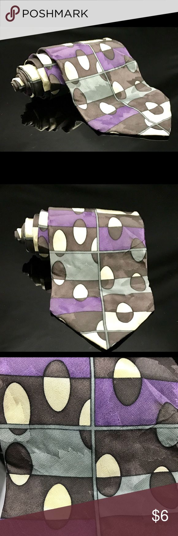 Luciano Gatti-Platinum Purple tie You Are Buying A Luciano Gatti-Platinum Purple Black White 100% silk Italian made tie All ties will be rolled & wrapped inside a box to you.this tie has small stain shown in the pic and dropped the price because of it. From a Pet and Smoke Free Home Accessories Ties