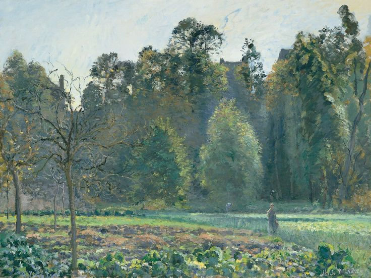 Campo de coles, Pontoise - Camille Pissarro | Museo Thyssen
