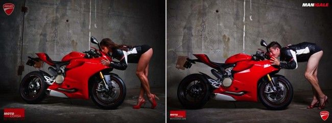 If a bikini-clad woman can sell motorcycles, surely the lads have a chance too, right? Portland-based Ducati dealer MotoCorsa has taken their dealership workers and turned the tables (and the camera!) in a can't-turn-away series known as MANIgale. It happened after shooting conventional photographs for their Ducati 1199 Panigale motorcycle using the typical sexy poses. […]