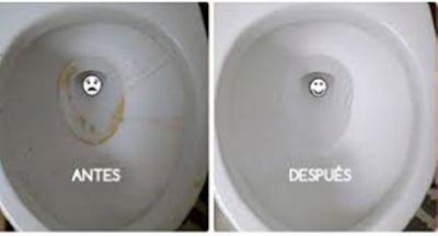 Deja tu inodoro impecable en tan solo 10 segundos, increíble pero cierto...
