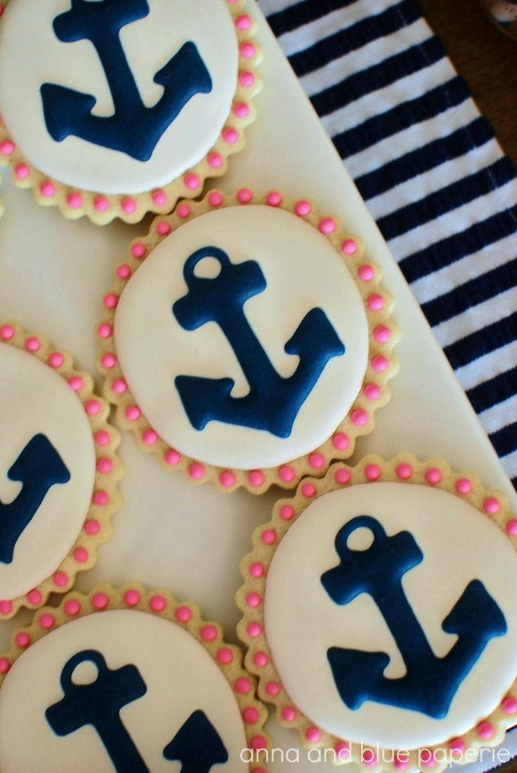 """Adorable """"Let's Set Sail"""" party theme. Note: the printable party collection is on sale for 50% off in her Etsy shop through July 25."""
