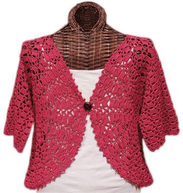 Crochet Patterns Using Variegated Yarn : + ideas about Crochet Boleros on Pinterest Crochet Vests, Crochet ...