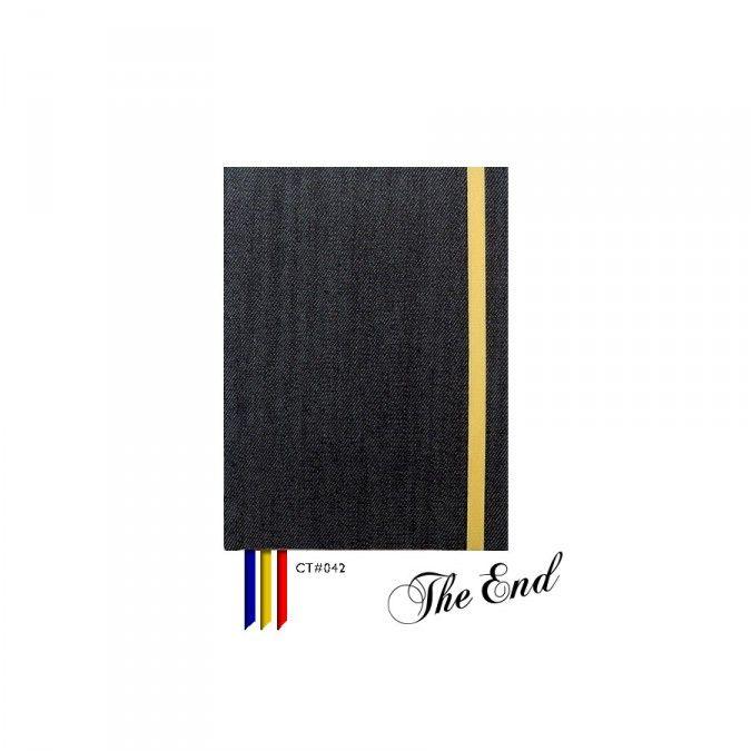 Cuaderno CT#042. Tamaño: 12 X 15 cm. Tapa dura forrada con tela estampada. 100 hojas lisas Bookcell de 80 gr. 3 Cintas señaladoras en combinación. Elástico sujetador a tono.