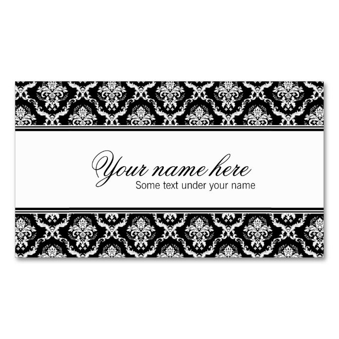 2251 best Damask Business Card Templates images on Pinterest ...