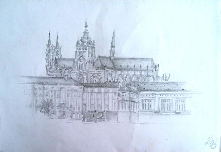 Pražský hrad, tužka. Dominika Bartoňová
