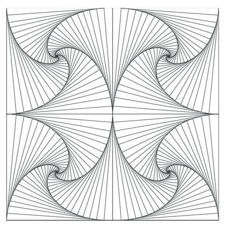 druckbare geometrische malvorlagen  blackwork