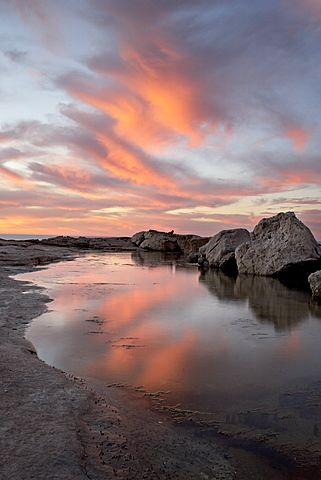 Sunset, Elands Bay, Western Cape Province, South Africa, Africa