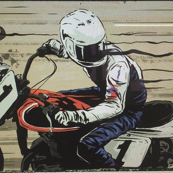 Ryan Quickfall's illustration #illustration #design #motorcycles #motos | caferacerpasion.com