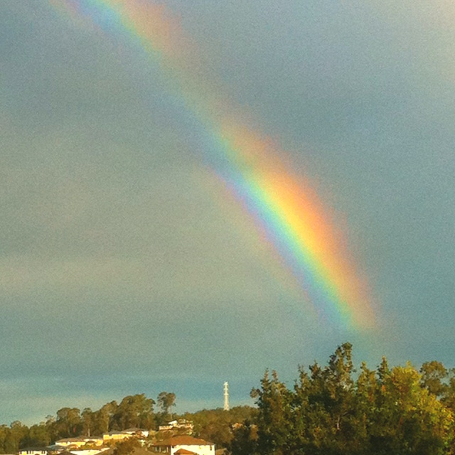 When it's all clear a rainbow appears :)