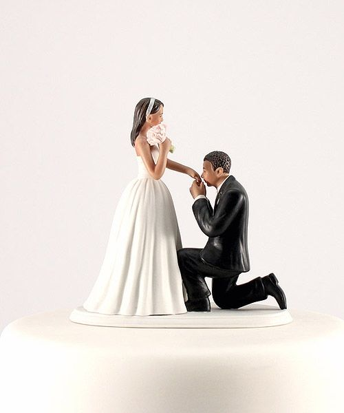Asian Bride White Groom Cake Topper