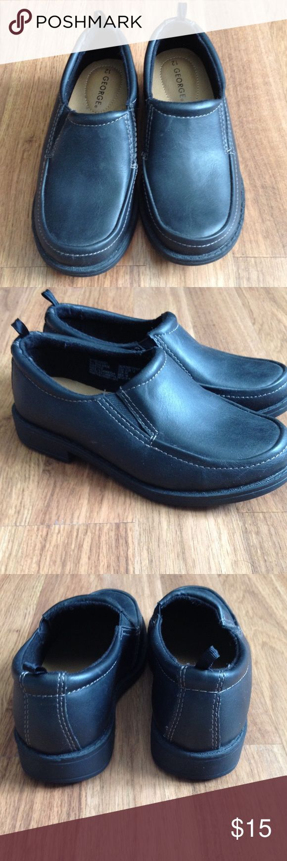 NWOT toddle boys dress shoes. Son never wore these, NWOT black dress shoes. George Shoes Dress Shoes