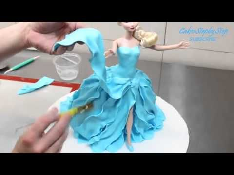 Frozen Elsa Doll Cake - How To by CakesStepbyStep.