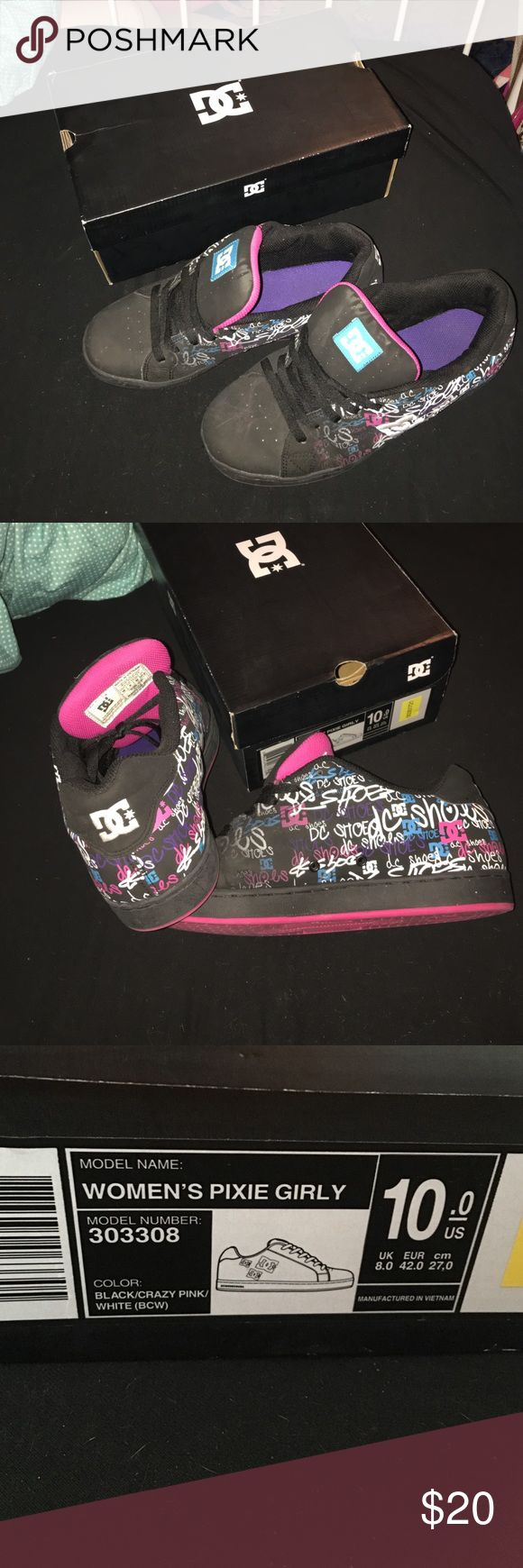 DC skateboard shoe(women's pixie girly-model name) only wore these like 10-15 times. light wear. bought a few years ago. Woman's size 10. Original box. Generous offers only DC Shoes Sneakers