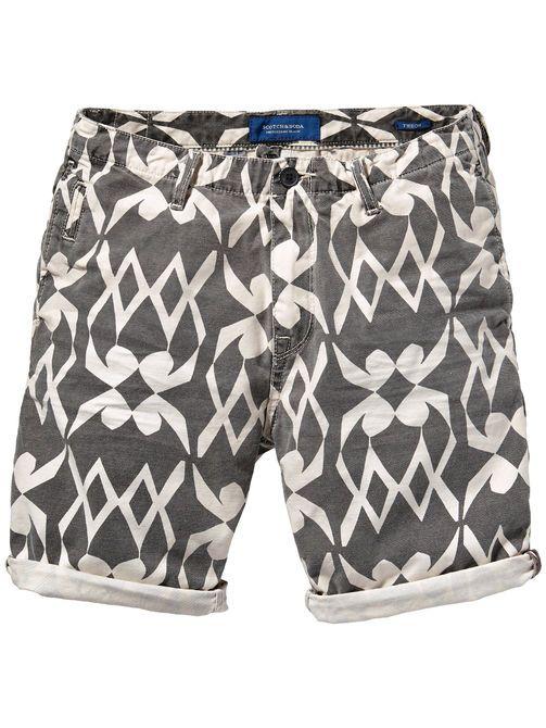 Shorts chinos Theon - Teñido en prenda