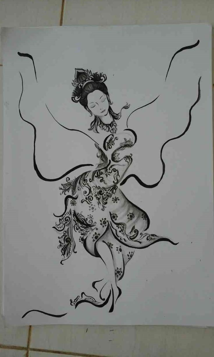 my painting :3 black ink on paper