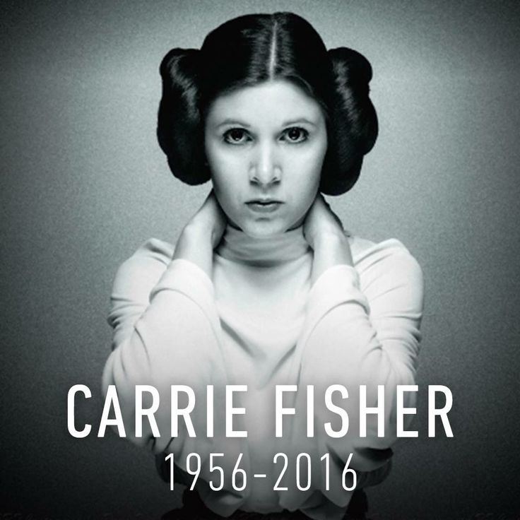 Carrie Frances Fisher (October 21, 1956 – December 27, 2016) was an American actress, writer, producer, and humorist. She was the daughter of singer Eddie Fisher and actress Debbie Reynolds. Fisher was best known for playing Princess Leia in the Star Wars film series. Her other film roles included Shampoo (1975), The Blues Brothers (1980), Hannah and Her Sisters (1986), The 'Burbs (1989), and When Harry Met Sally... (1989).