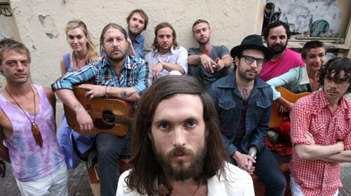 Edward Sharpe and The Magnetic Zeros-- Folk Rock , check out there single home and watch some videos you will be hooked. The funniest thing is hearing my three year old daughter sing it. haha makes me smile everytime