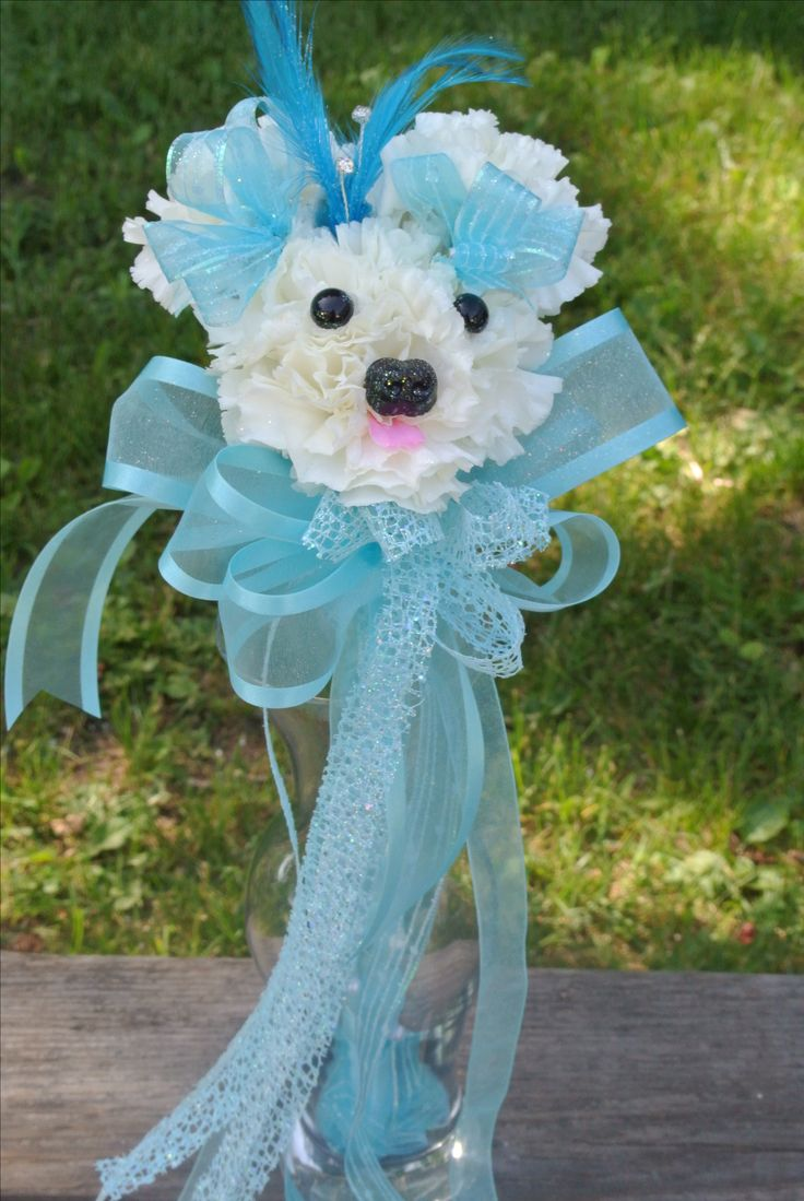 Aaron's Flowers ~ Freeland,MI 48623 Puppy Wands in many colors.  (989) 695-2576