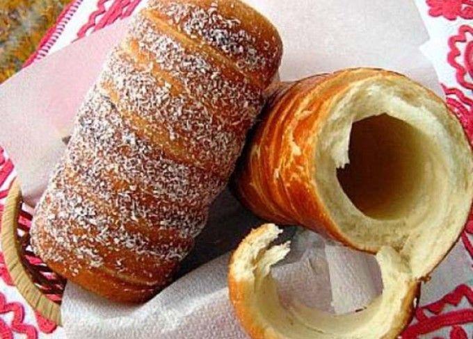 Křehoučké trdelníky s kokosovou posýpkou