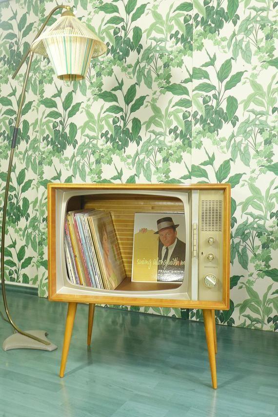 Mid Century Schrank Sideboard Tv Set Haus Bar Konsole Etsy Haus Interieurs Design Wohnzimmer
