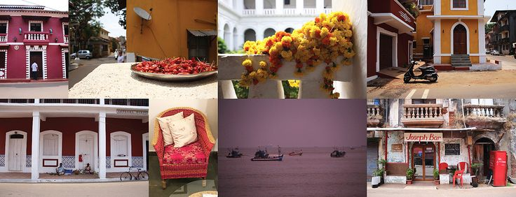 Vivid and vibrant Goa – a moodboard inspired by the seaside streets of Indias' Goa #moodboard by #placesandgraces #india #goa #panjim
