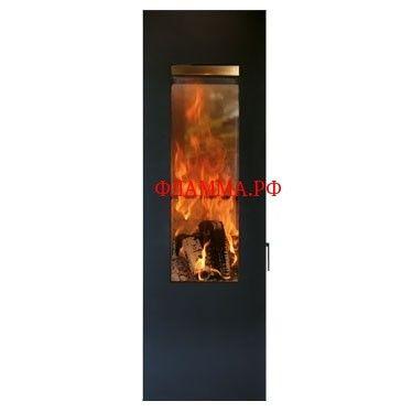 Печь Matrix, чёрная (Concept Feuer) на печном складе ФЛАММА      ПЕЧЬ MATRIX, ЧЕРНАЯ (CONCEPT FEUER)         Отопительная печь черного цвета.           Модель стильной отопительной печи Matrix фокусирует внимание покупателя на главную составляющую любого отопительного изделия – на живой огонь. Специально для этого разработчики и дизайнеры данной модели оснастили печь потрясающей панорамой топочной камеры: просторное большое стекло прямоугольной формы открывает потрясающий вид на танец…