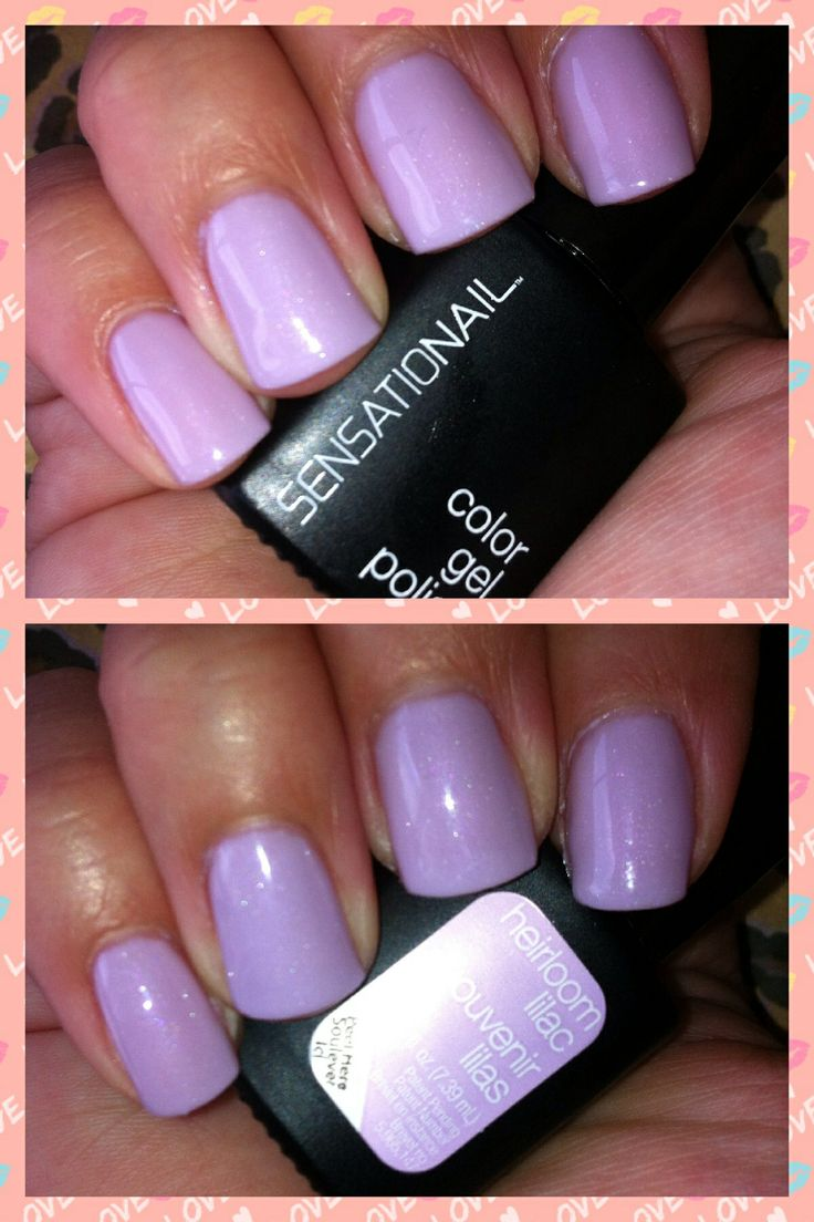Heirloom Lilac Sensationail Gel Polish Love This Color For Spring It S So Pretty