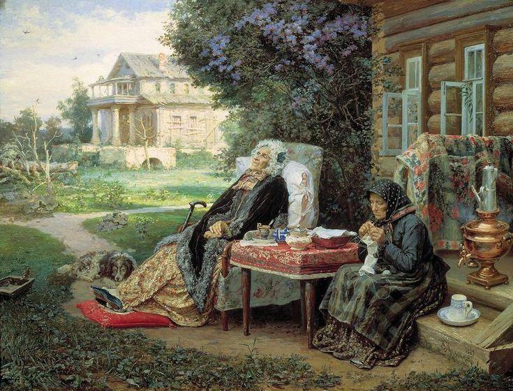 Максимов Василий Максимович(1844-1911). Всё в прошлом. 1889. Масло
