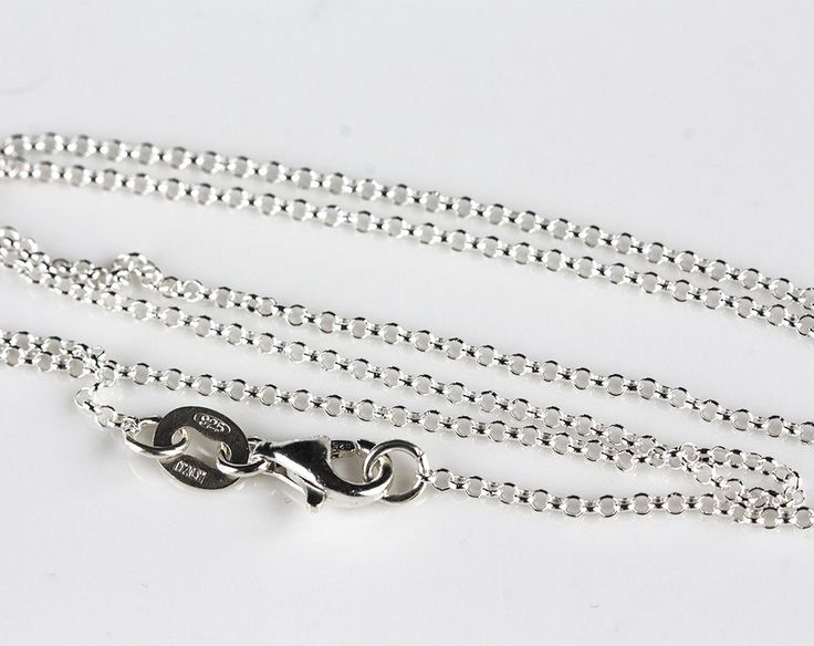 2502_Sterling silver rolo chain 1.3 mm, 925 Silver finished chain, Thin chain with clasp, Delicate jewelry chain, Link chain necklace_1 pc. by PurrrMurrr on Etsy