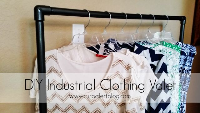 Curb Alert! : DIY Industrial Clothing Valet