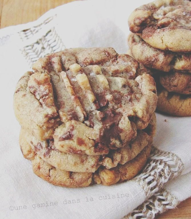 Peanut Butter + Nutella Swirl Cookies. Going to make these for my birthday I think!