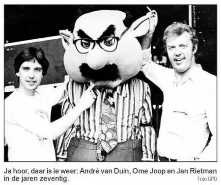 Jan Rietman, Ome Joop en Andre van Duin in de zeventiger jaren (Foto: Leeuwarder Courant)