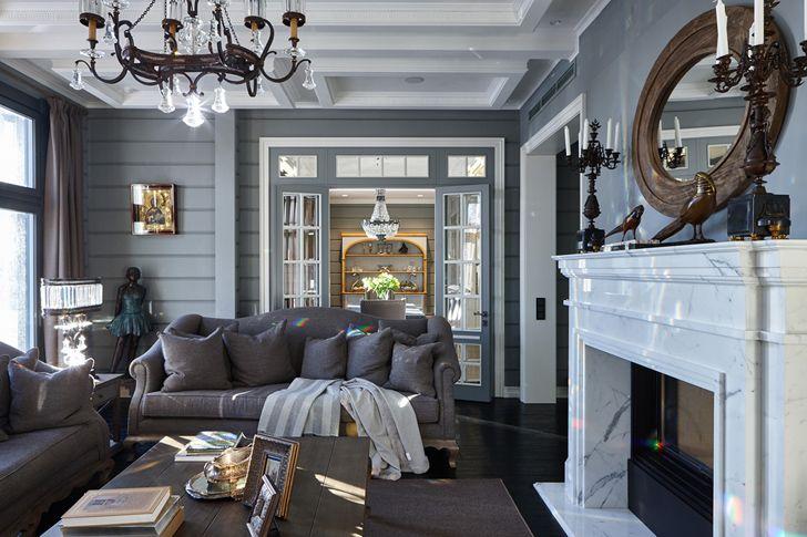 Замечательный дом из бруса в Подмосковье   Пуфик - блог о дизайне интерьера